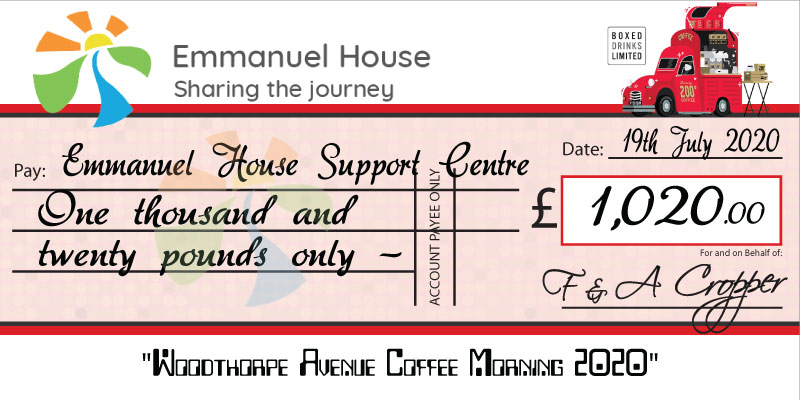 Giant Charity Cheque - Case study