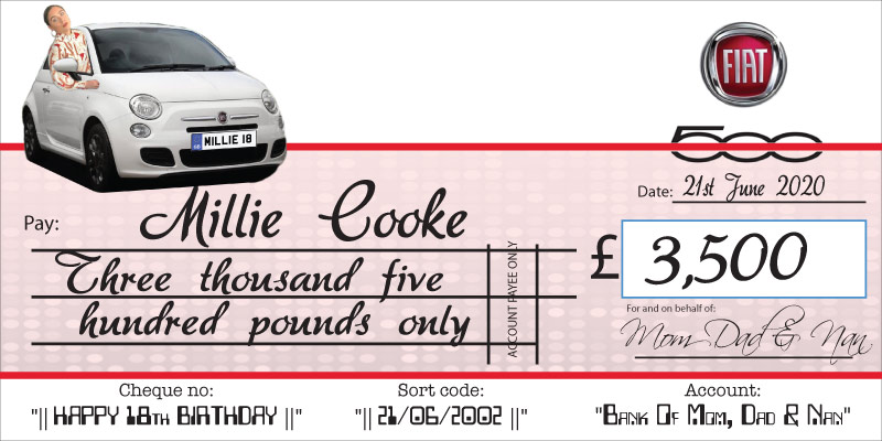 Personalised Birthday Giant Cheque